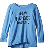 The Original Retro Brand Kids Today I Choose Happiness Tri-Blend Pullover (Big Kids)