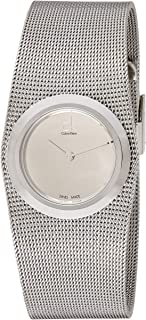 Calvin Klein Women's Quartz Watch with Black Dial Analogue Display Quartz Stainless Steel K3T23128