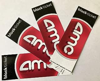 4 AMC Theatre Black Movie Tickets (Save $10+)