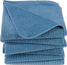 Polyte Premium - Kökshandduk - multifunktionell - räfflad frotté - mikrofiber - 6-pack - blå - 40 x 71 cm