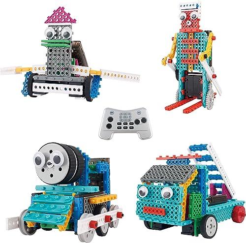 ThinkGizmos Le kit Robot pour Enfants - Le Kit de Construction de Jouet télécommandé Ingenious Machines (Robot Canard...