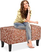 Humbil Ottoman Slipcover Large Polyester Stretch Fabric Furniture Chair Foot Rest Folding Storage for Ottoman Living Room ...