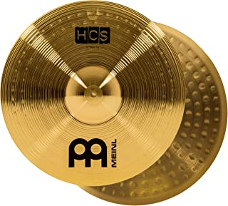 """Meinl 14"""" Hihat (Hi Hat) Cymbal Pair – HCS Traditional Finish Brass for Drum Set, Made In Germany, 2-YEAR WARRANTY (HCS14H)"""