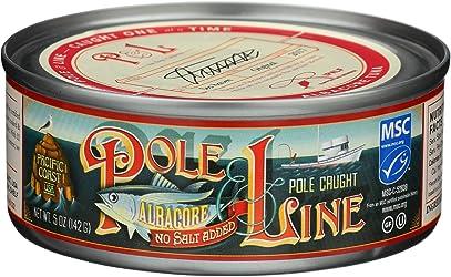 Pole And Line, Tuna Albacore No Salt Added, 5 Ounce