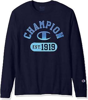Champion Men's Classic Jersey Long Sleeve Graphic T-Shirt