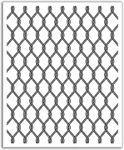 JP London POS2444 uStrip Peel and Stick Removable Wall Decal Sticker Mural Barbwire Pamela Link Fence, 19.75-Inch by 24-Inch