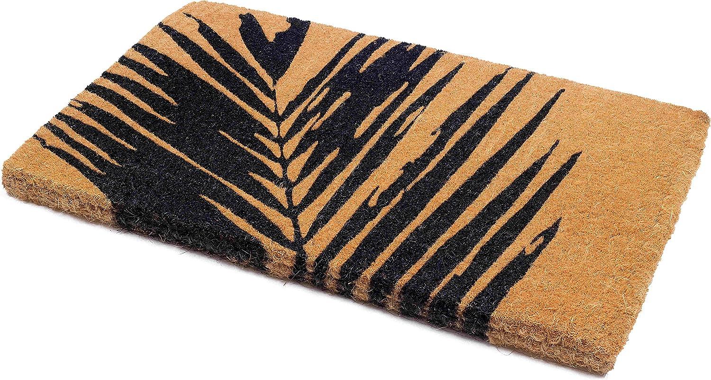 Handwoven, Extra Thick Doormat   Entryway Door mat for Patio, Front Door   Decorative All-Season   Summertime Palm Leaf   18  x 30  x 1.60