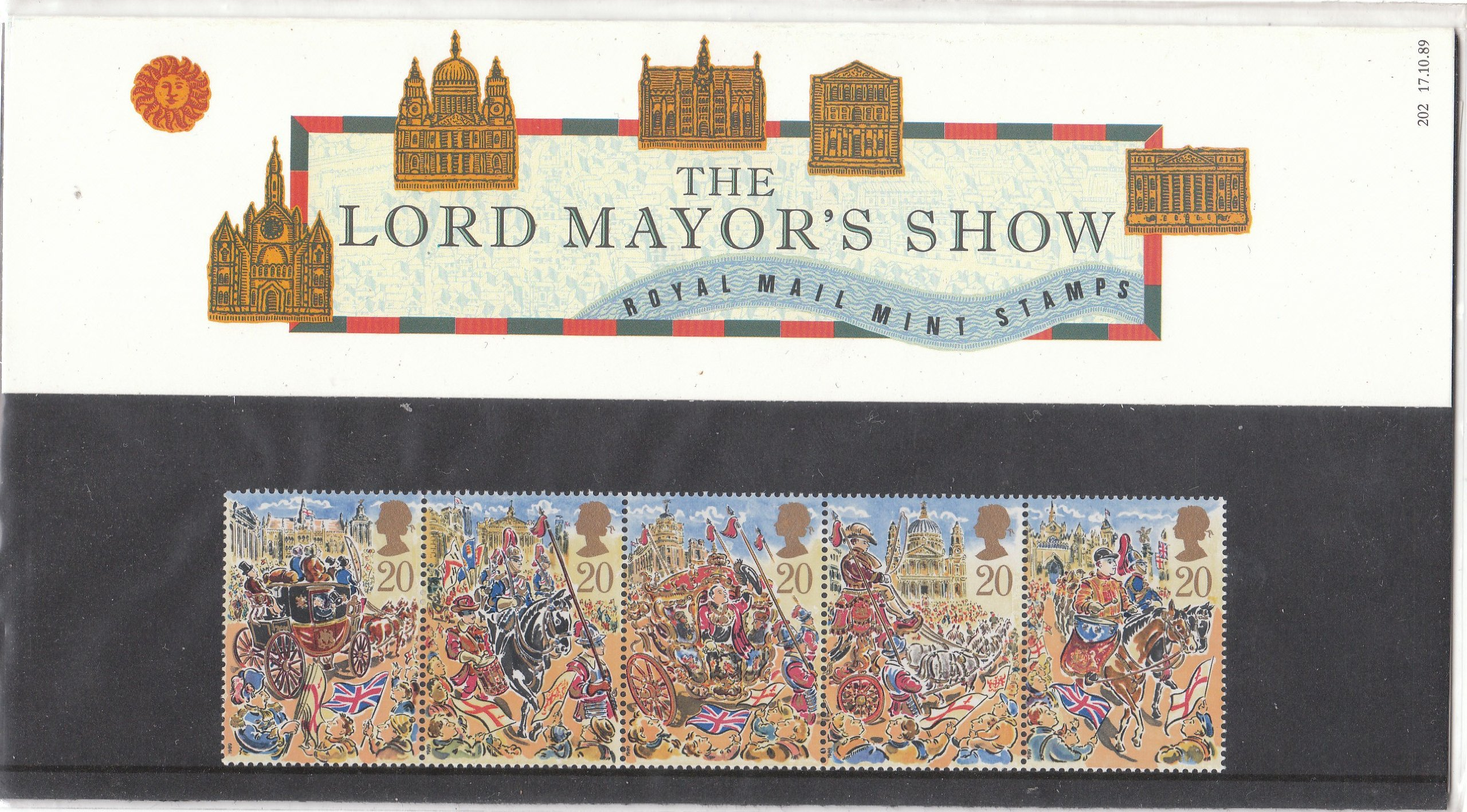 1989 The Lord Mayors Show Presentation Pack no 202 by Royal Mail: Amazon.es: Hogar