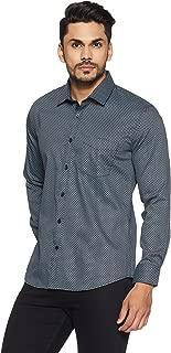 John Miller Men's Printed Slim Fit Cotton Dress Shirt