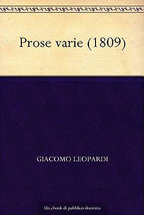 Prose varie (1809)
