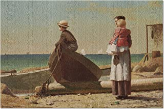 Dad's Coming - Masterpiece Classic - Artist: Winslow Homer c. 1873 (20x30 Premium 1000 Piece Jigsaw Puzzle, Made in USA!)