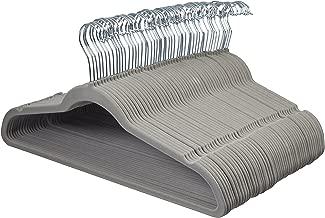 AmazonBasics Velvet Suit Clothes Hangers, 50-Pack, Gray