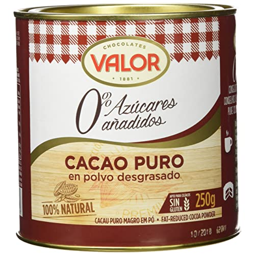 Chocolates Valor - Cacao Puro En Polvo Desgrasado - 250 g - [pack de 2