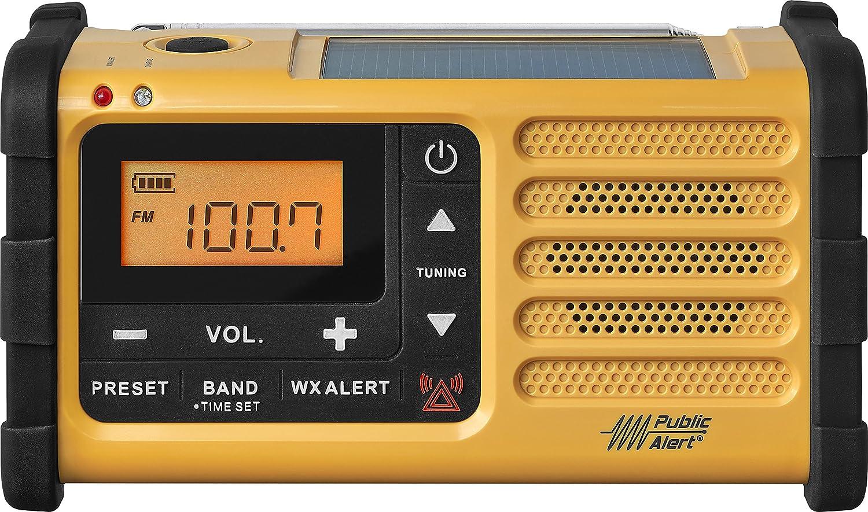 Amazon.com: Sangean MMR-88 AM/FM/Weather+Alert Emergency Radio. Solar/Hand  Crank/USB/Flashlight, Siren, Smartphone Charger yellow : Electronics