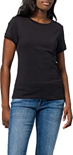 Calvin Klein Micro Branding off Placed Tee T-Shirt Donna