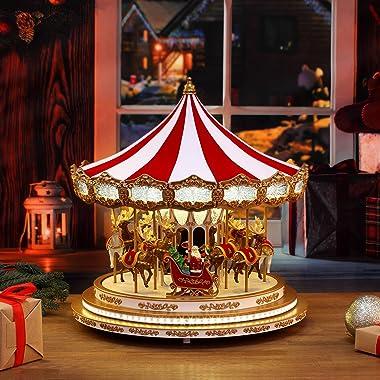 Mr. Christmas Regal Carousel Christmas Décor, Red
