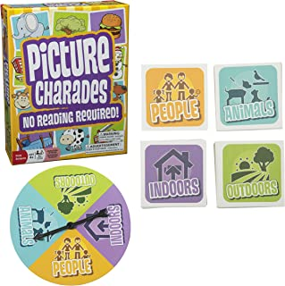 Picture Charades for Kids - No Reading Required! - An Imaginative Twist on a Classic Game Now for Young Children - Contains 4 Desk, 192 Cards Total - Ages 4+