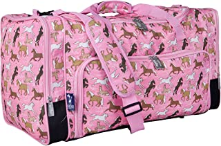Wildkin Kids Weekender Duffel Bag for Boys and Girls, Carry-On Size and Perfect for Weekend or Overnight Travel, Patterns Coordinate with Our Nap Mats and Sleeping Bags