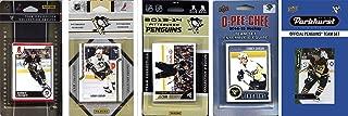 NHL 匹兹堡企鹅队男式 5 种不同的许可集换卡队套装,白色