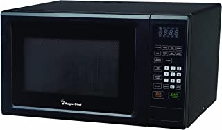 Magic Chef MCM1110B 1.1 Cu. Ft. 1000W Countertop Microwave Oven with Push-Button Door in Black,