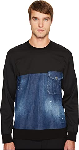Stretch Denim Pullover Shirt