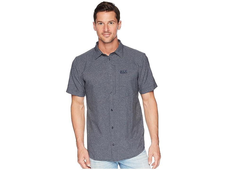 Jack Wolfskin Barrel Shirt (Night Blue) Men