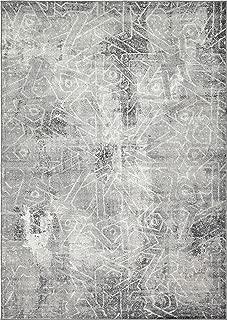Unique Loom 3137780 Sofia Collection Traditional Vintage Beige Area Rug, 4' 0 x 6' 0 Rectangle, Dark Gray