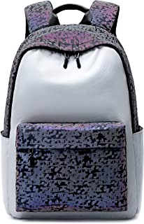 Joymoze Cool Reflective Trend Backpack for Teenager Casual College Daypack Grey