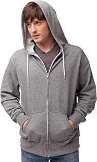Global Blank Slim Fit Lightweight Zip Up Hoodie Men and Women Hooded Sweatshirt