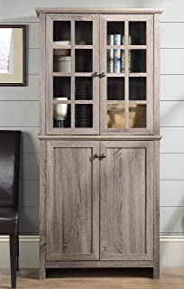 Best homestar glass cabinet in reclaimed wood finish Reviews
