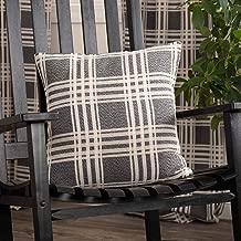 Piper Classics Logan Charcoal Throw Pillow Cover, 18 x 18, Modern Farmhouse Décor Accent, Dark Gray Plaid