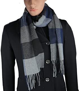 Cashmere-Feel Acrylic Winter Scarf For Men And Women In 8 Plaid Prints By Debra Weitzner