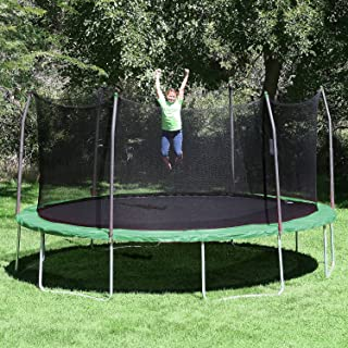 17' x15' Oval Trampoline and Enclosure Pad Color: Green