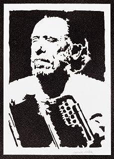 Poster Charles Bukowski Handmade Graffiti Street Art - Artwork