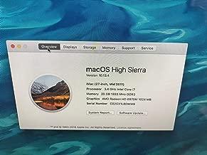 Apple iMac MD063LL/A Intel Core i7-2600 X4 3.4GHz 4GB 1TB 27in,Silver (Renewed)