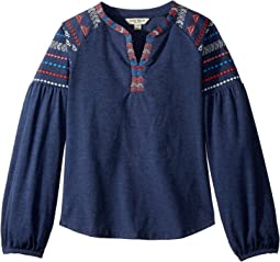 Lucky Brand Kids - Tessa Embroidered Top (Big Kids)