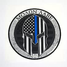 Proud Store Online USA Molon Labe 3% Sticker Thin Blue LINE Domed Decal car Emblem 3D 3