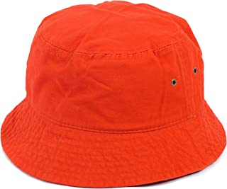 2f72bad01319e DRY77 Plain Solid Color Safari Sun Bucket Fishermen Fisherman Washed Cotton  Hat