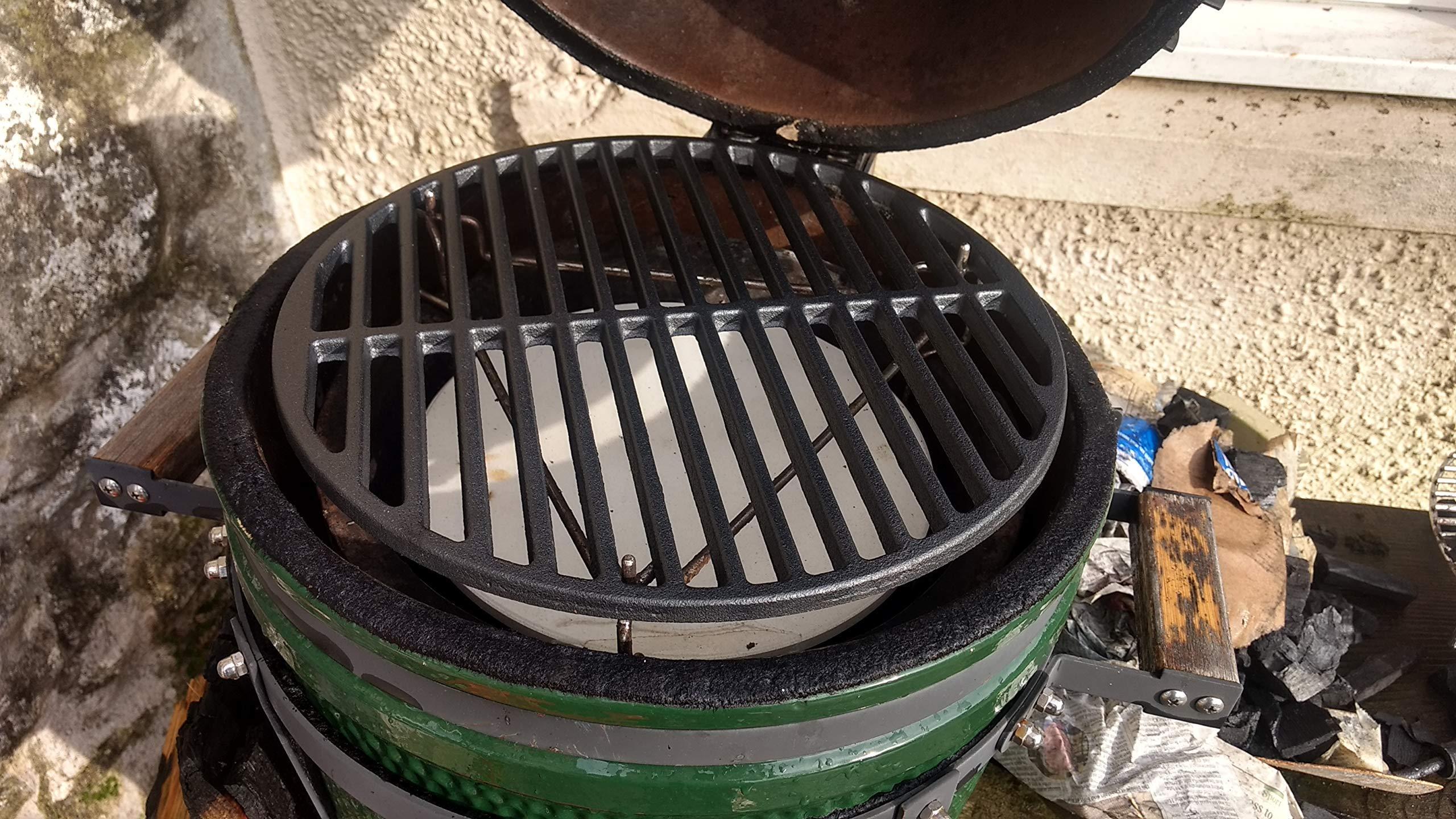 YNNI KAMADO 50 cm Heavy Duty 6 kg Rond en Fonte Grille BBQ