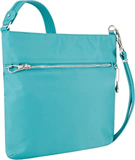 Travelon Travelon Women's Anti-theft Tailored N/S Slim Cross Body Bag, Aquamarine (blue) - 43201-300