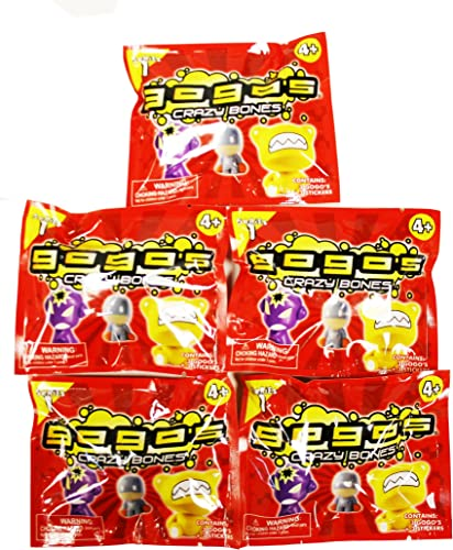 Gogo's Crazy Bones Series One, 5 packs of 3 Pieces by JDNA Inc.