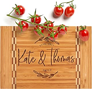 Personalized Cutting Board, House Warming Present for New Home,12 Designs & 3 Sizes - Wedding Gifts for Couple, Anniversar...