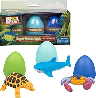 Animal Planet Ocean Easter Grow Eggs 3 Pack- Educational Marine Animal Toys - Hatch and Grow Your Own Sea Creature Pet (Series 2)