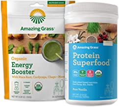 product image for Amazing Grass Protein Superfood & Collagen Booster Bundle - Protein Superfood Powder Pure Vanilla & Energy Greens Powder Smoothie Booster