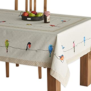 Maison d' Hermine Birdies On Wire100% Cotton Tablecloth 54 - inch by 54 - inch.