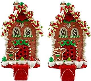 Gingerbread House Christmas Stocking Holder - Set of 2 (Candy Cane Lane)