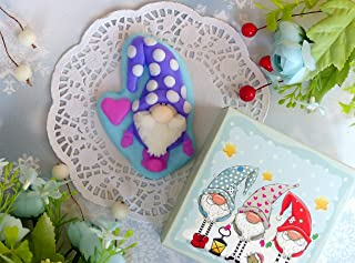Purple gnome soap with ruby heart - symbol of wealth and well-being - fairy soap for children
