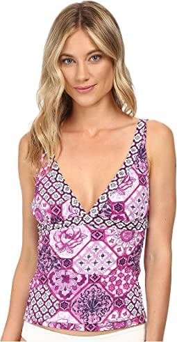 Tommy Bahama - Tiles of Tropics V-Neck Tankini Top