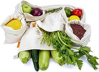 reusable cotton vegetable bags