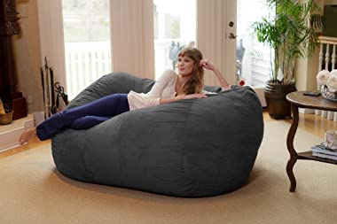 Chill Sack Bean Bag Chair: Huge 6' Memory Foam Furniture Bag and Large Lounger - Big Sofa with Soft Micro Fiber Cover - C